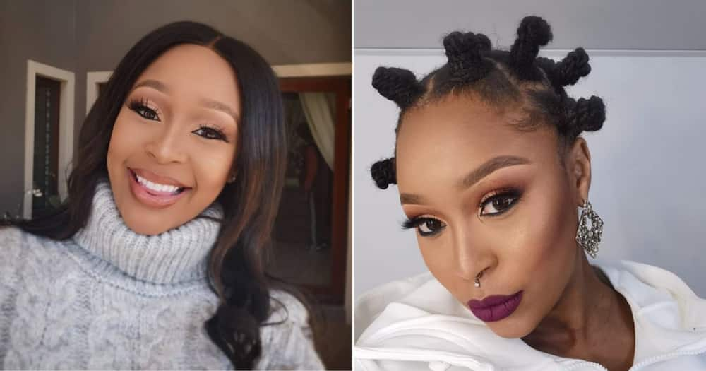 Minnie Dlamini shares adorable throwback with her childhood friend