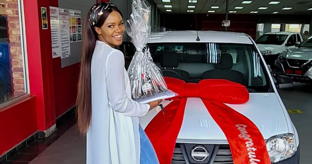 Young Lady Proudly Celebrates as Her Side Hustle Helps Her Buy New Car
