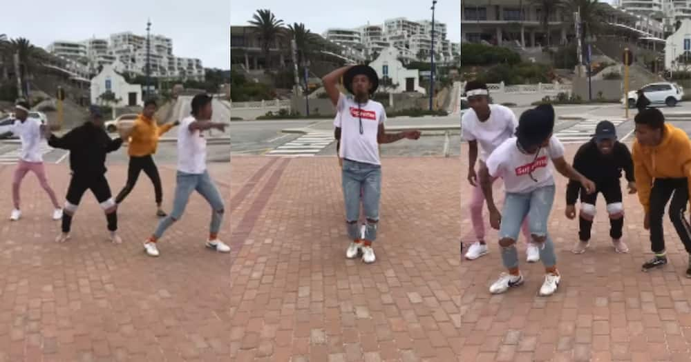 SA reacts happily to clip of young men dancing