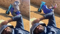 How it started vs how it ended: Dad captures funny pic of kid, SA reacts