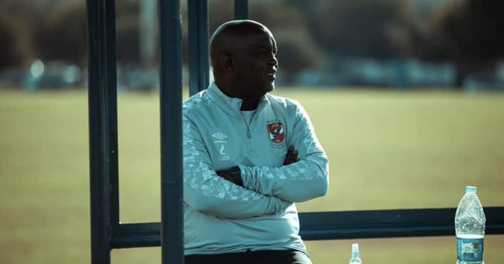Al Ahly coach Pitso Mosimane says he also faced insults from fans after leaving Supersport United. Image: @AlAhlyEnglish/Twitter