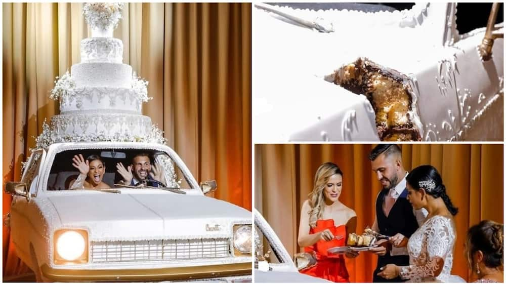 Photos of couple's wedding 'car cake' leaves internet users in awe