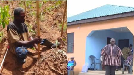 Visually-impaired farmer who worked hard but couldn't build house given apartment
