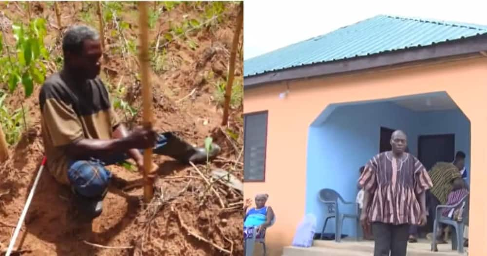 Lawrence Demebu: Visually-impaired farmer who worked hard but couldn't build house Receives apartment