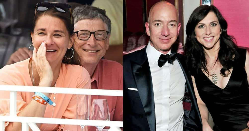 Bill Gates and Jeff Bezos with their ex-wives.