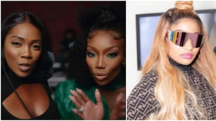 Somebody's Son: It has been on repeat for weeks, Nicki Minaj gushes over Tiwa Savage's song