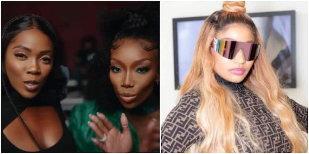Nicki Minaj likes Somebody's Son by Tiwa