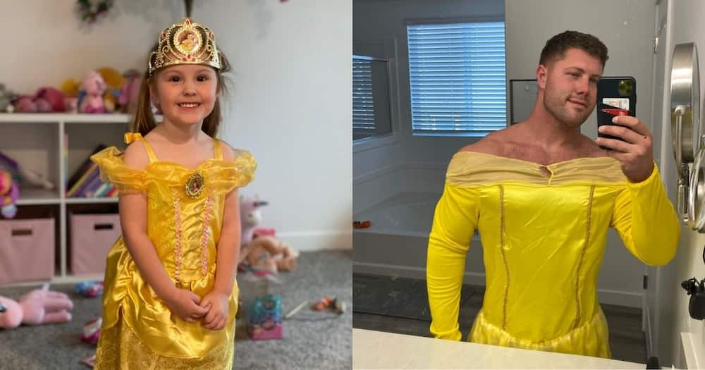 Dad dresses up as princess to make daughter happy: Internet reacts