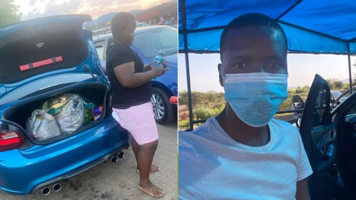 Haibo: Mzansi hilariously reacts to small trunk space of a flashy BMW