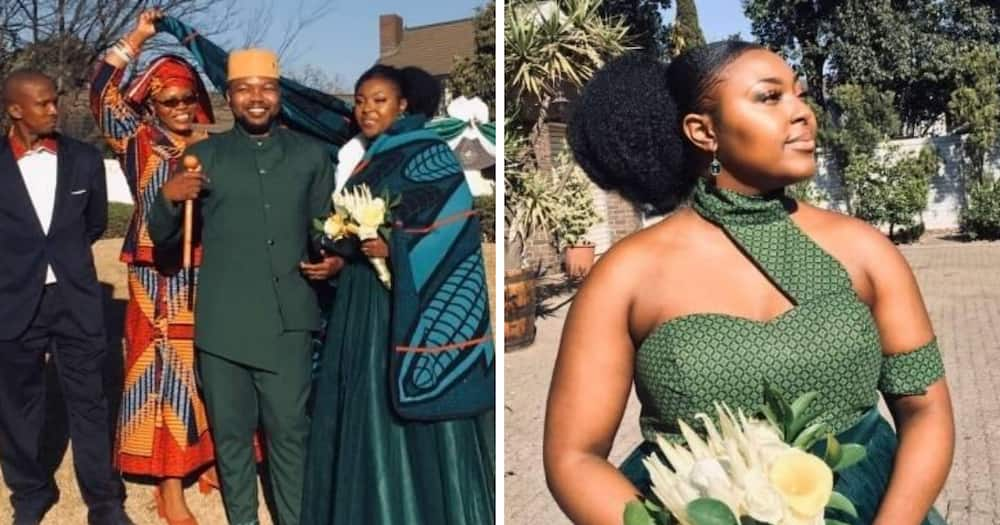 Mzansi wowed by these pics of a young couples traditional wedding
