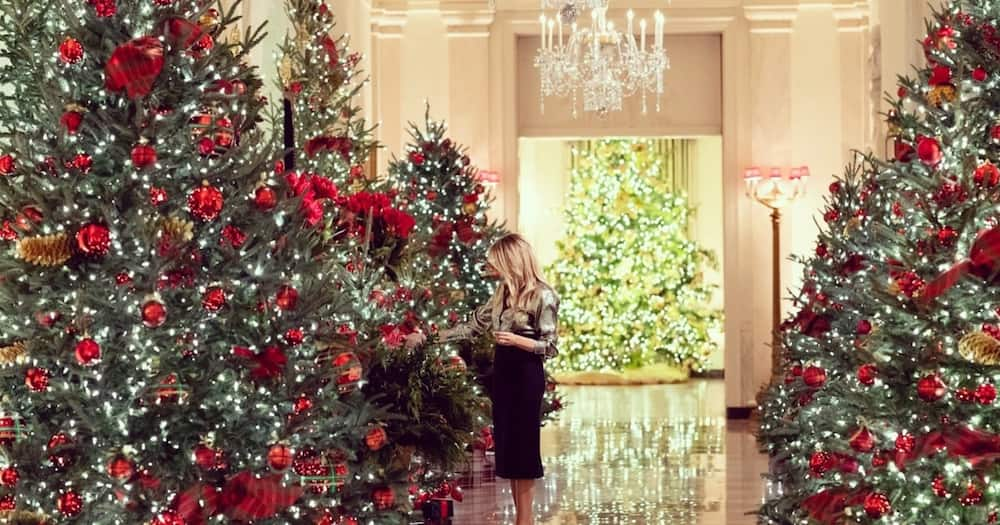 Melania Trump decorates White House for one last Christmas ahead of their departure