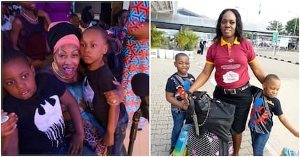 Lady praises her miracle babies after waiting 11 years to have kids