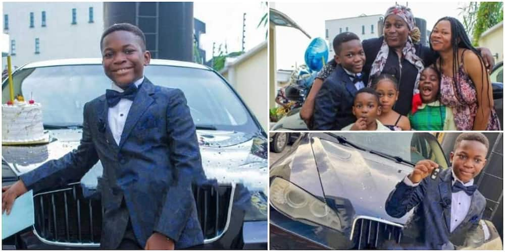 Massive reactions as boy gets new car as gift to mark his birthday