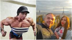 Female Russian bodybuilder has bigger biceps than her husband