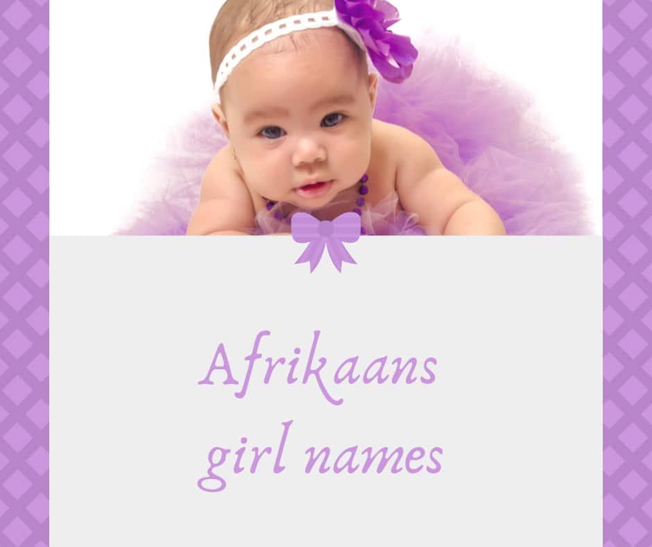 Afrikaans girl names