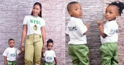 Youth corps member celebrates her twin kids who turn 2 during her service year