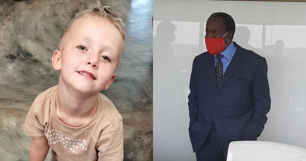 Little kid asks Tito Mboweni for some support with his business