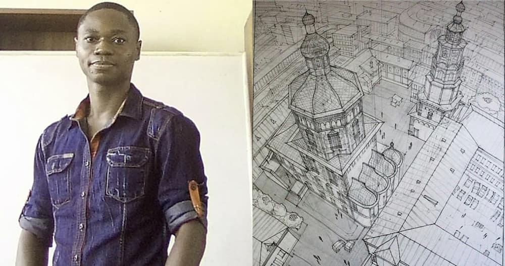 Teacher from Takoradi, an expert at complex pencilled artworks