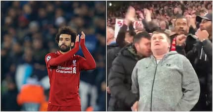 Moving photo emerges of fan describing Salah's goal to blind supporter