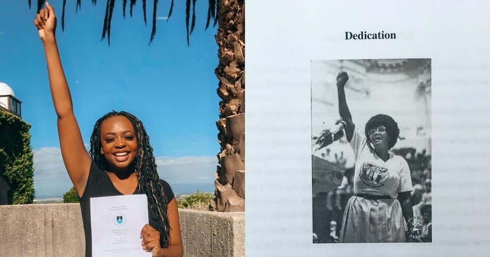 Woman dedicates honours thesis to late grandmother