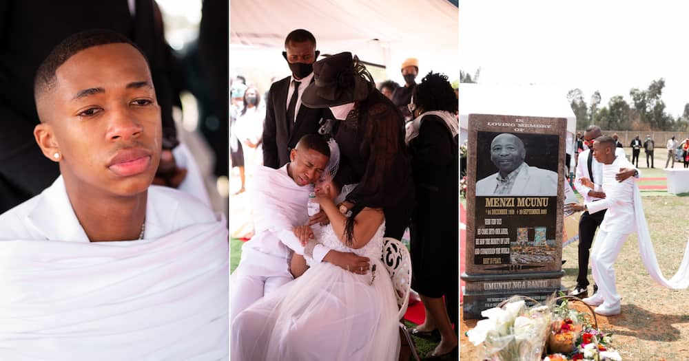 Lasizwe's says a tearful and emotional final goodbye to his father