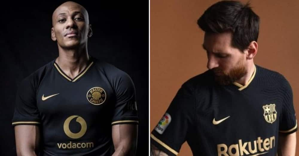 SA drags FC Barcelona for copying Kaizer Chiefs' 50th birthday jerseys