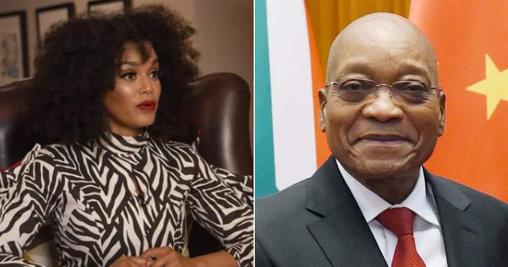 Pearl Thusi, Jacob Zuma, post, support