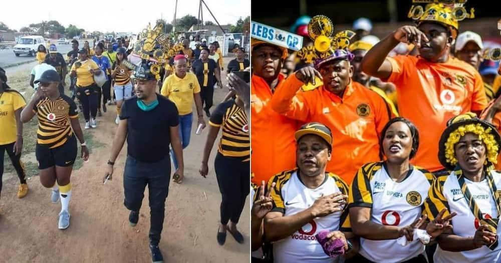 Disgruntled Kaizer Chiefs fans have embarked on a peaceful march to Naturena on Friday. Image: @KCFCOfficial/KCCOnline_Branch/Instagram/Twitter