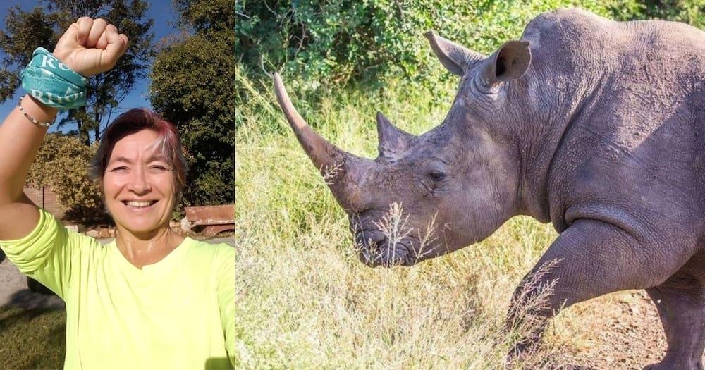 PE woman breaks world record to help rhinos