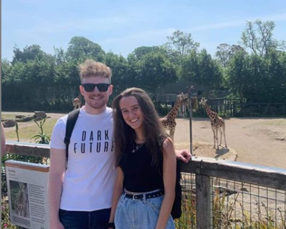 The new couple on a zoo date while still friends. Image: Instagram Aaron_doyler