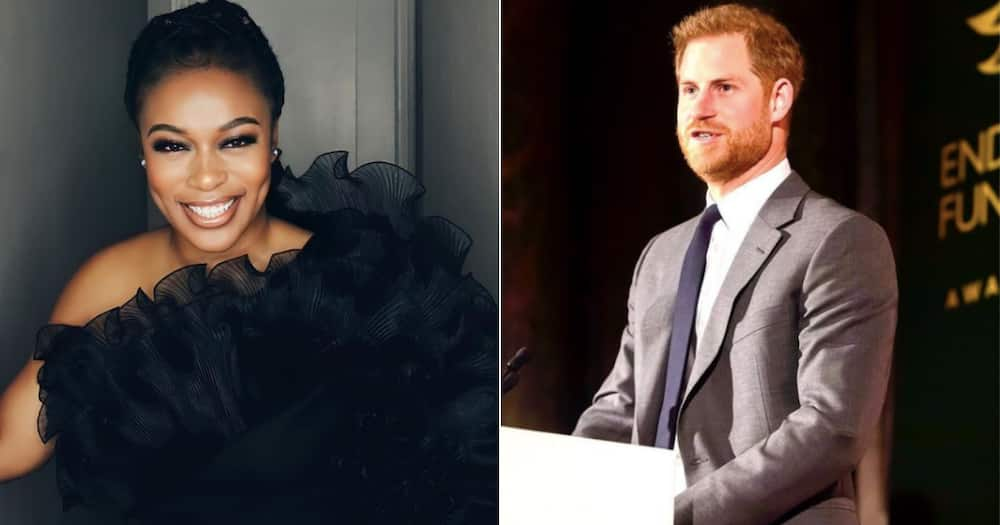 Nomzamo Mbatha meets Prince Harry and rubs shoulders with more public figures