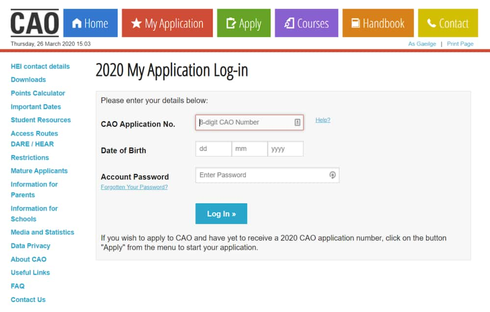 cao application online