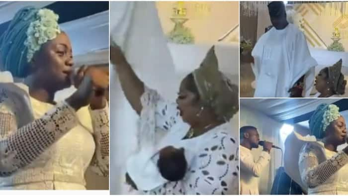 Emotional moment shows woman, 50, who gave birth for the 1st time thanking God