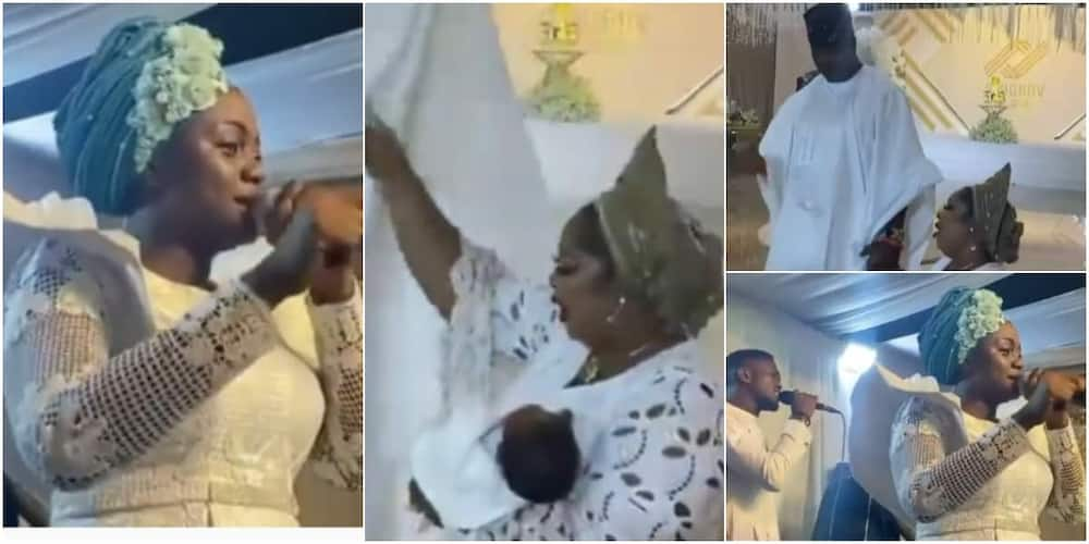 Emotional Moment Shows 50-year-old Woman Who Gave Birth For the 1st Time Thanking God For Finally Blessing Her