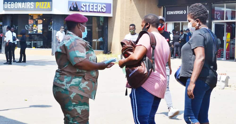Covid-19 update: SANDF soldier arrested after shooting man over mask