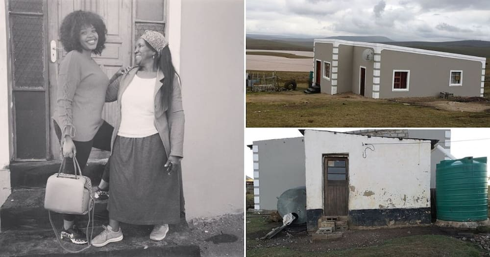Woman builds house for mom using salary, completes it after 2 years