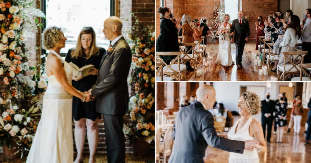 Beautiful couple, Alzheimer's, 2nd wedding, American couple