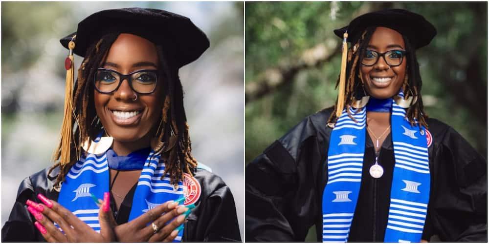 Une femme célèbre le fait d'être la première personne de la famille de sa mère à obtenir un doctorat partage d'adorables photos