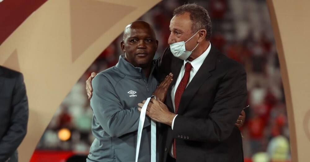 Al Ahly coach Pitso Mosimane has responded to President Cyril Ramaphosa's message. Image: @AlAhlyEnglish/Twitter