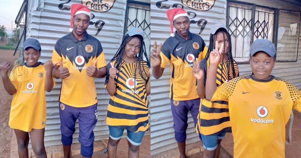Proud dad, daughters, flex for Chiefs