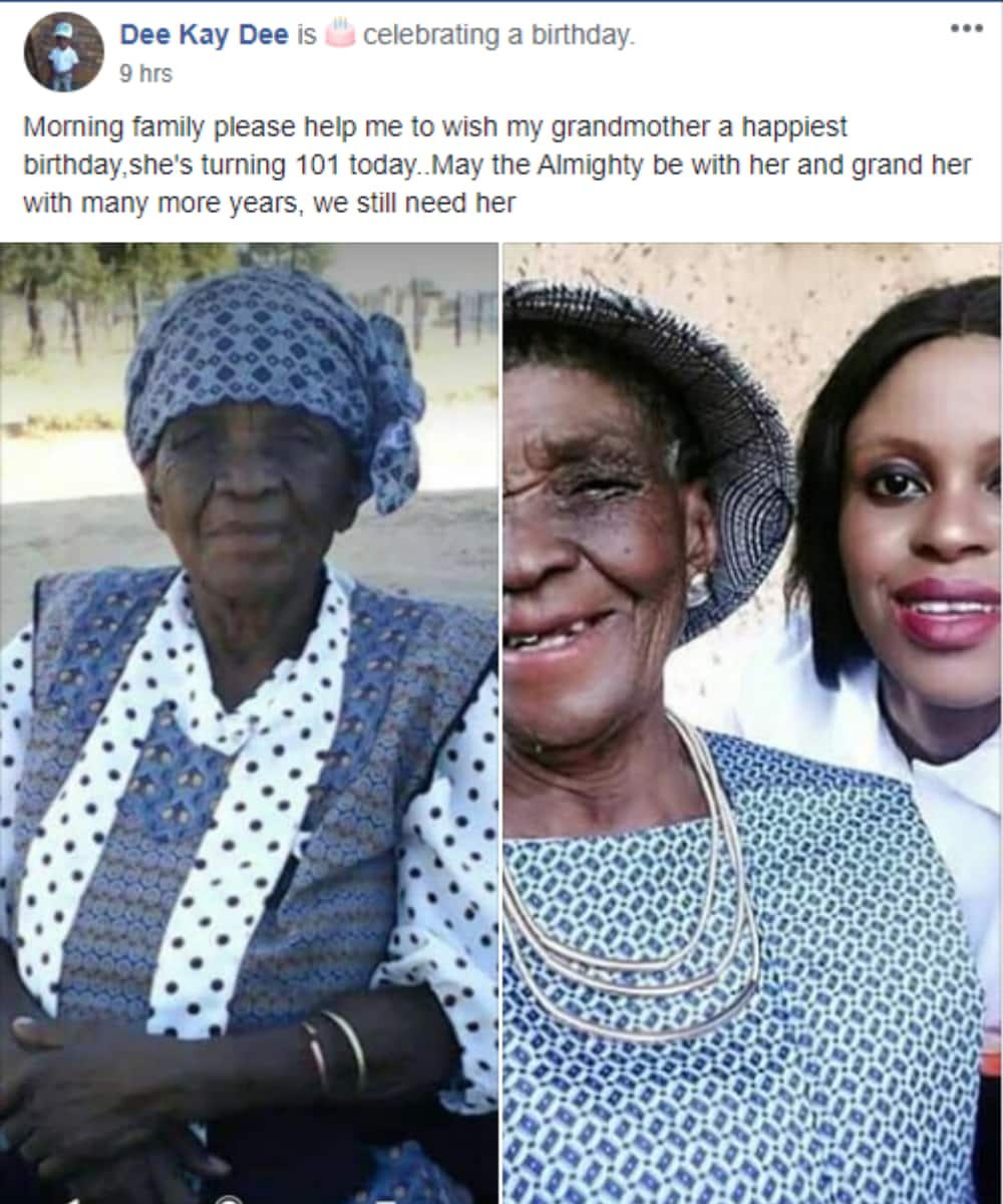 """Woman gushes about her gogo turning 101: """"We still need her"""""""