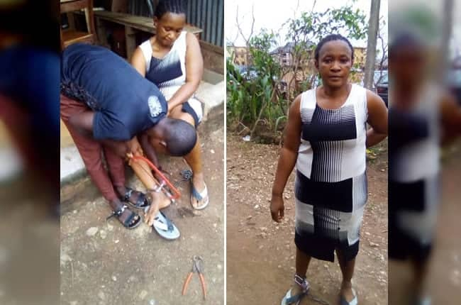 Woman rescued after being chained to pillar for 10 hours by her husband