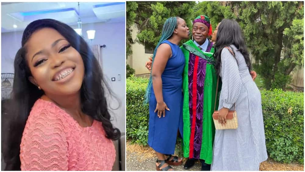 Dream Comes True as Nigerian Dad Bags His Degree at Age 66, Daughter Celebrates Him With Cute Photo