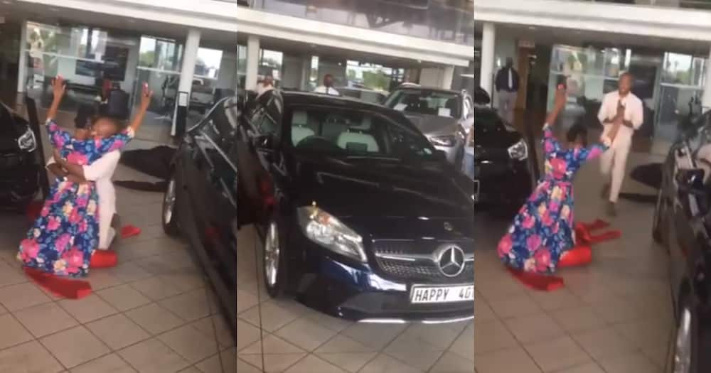 A local man bought his mom a car