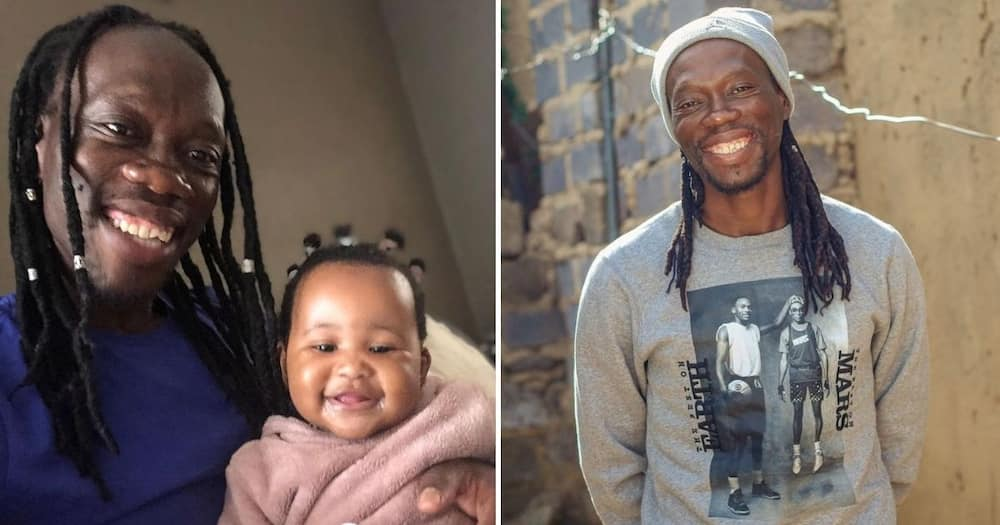 Reneilwe Letsholonyane has shared sweet pictures with his niece on her first birthday. image: @Reneilwe06/Instagram