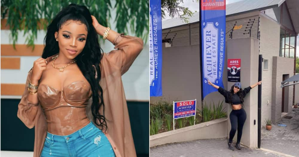 Faith Nketsi is making big moves and buys her momma a new house