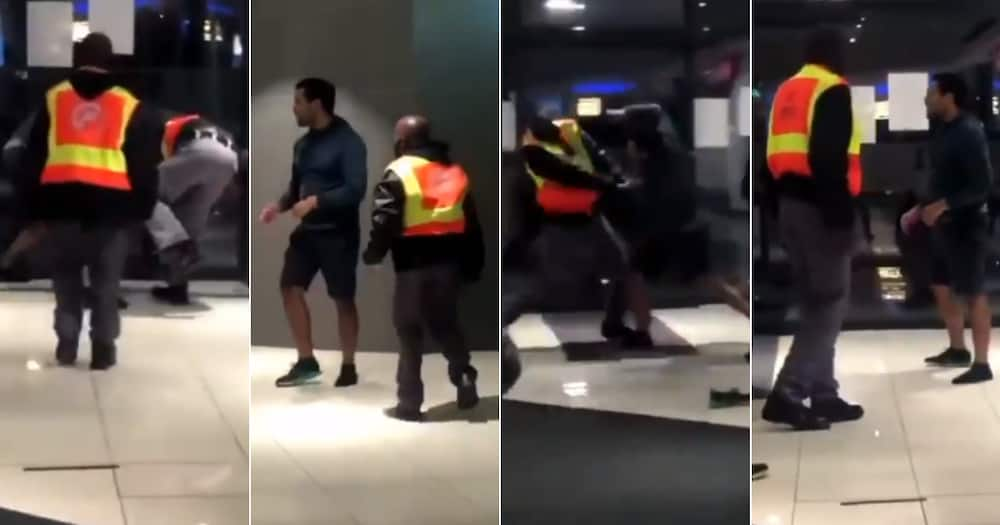 Man, Video, Beating up, Security officers, Fight, Mall, Social media reactions