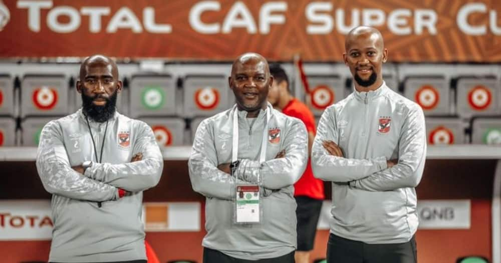 Al Ahly coach Pitso Mosimane has offered a trophy to the Big Zulu and King Monada fight. Image: @AlAhlyEnglish/Twitter