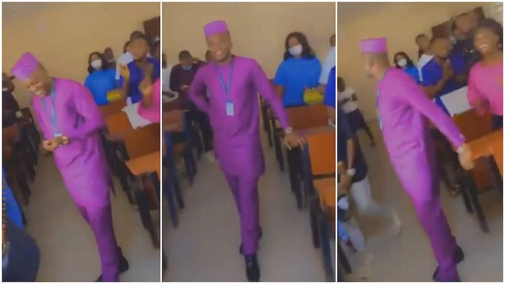 Rare Video of Nigerian Students Celebrating their Lecturer on his Birthday during Class Sparks Reactions