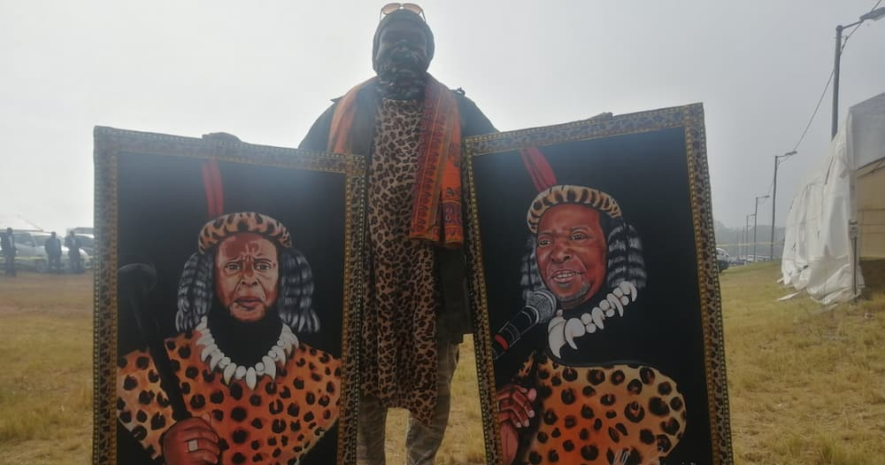 Mzansi Reacts Positively to Rasta's King Goodwill Zwelithini Painting